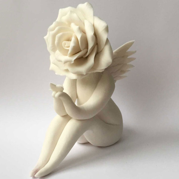 Angel Rose Flower Sculpture