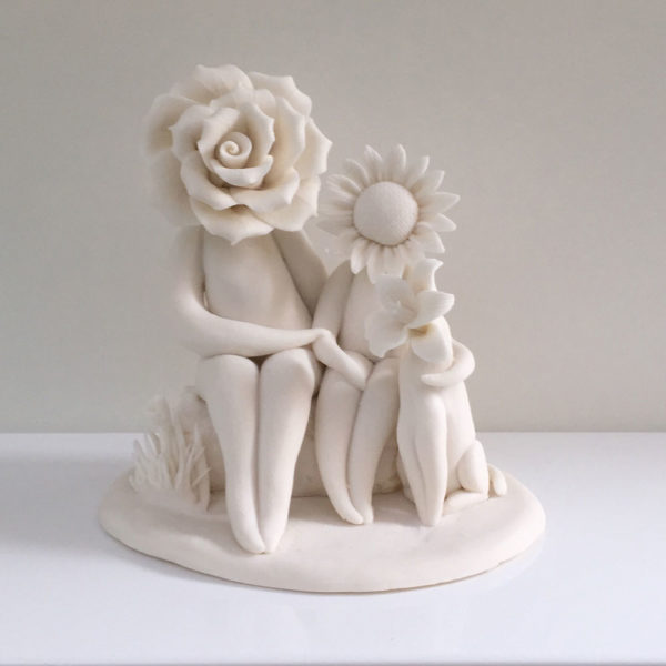 family flower sculpture