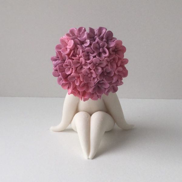 Miss hydrangea flower sculpture