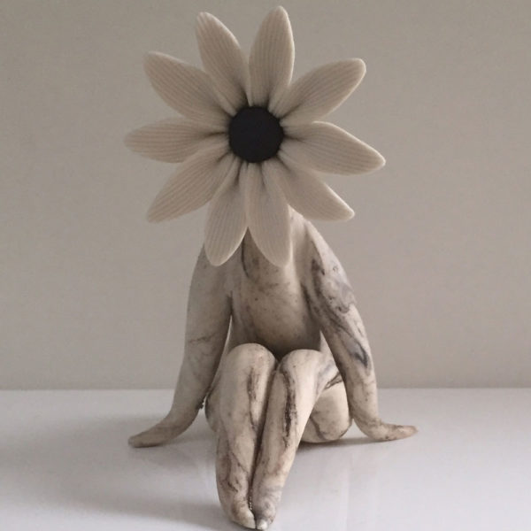 lady daisy flower sculpture