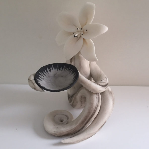 Lily Oil Burner Flower Sculpture