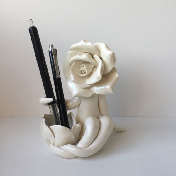 mrs rose pen or candle holder
