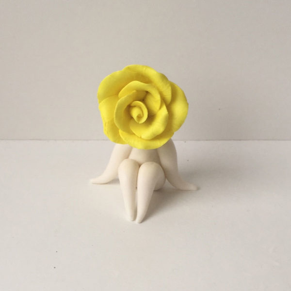 yellow rose flower sculpture