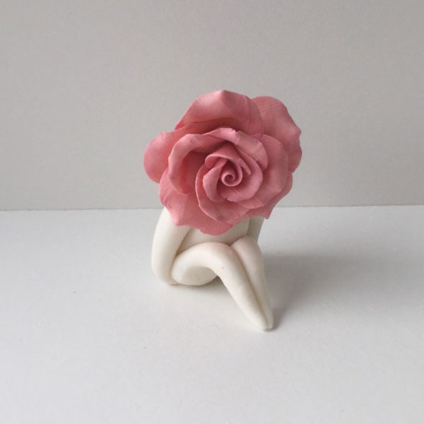 Little Miss Pink Rose Sculpture