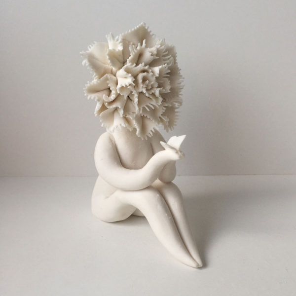 Lady Carnation Flower Sculpture
