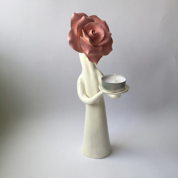 Standing Rose Lady with candle