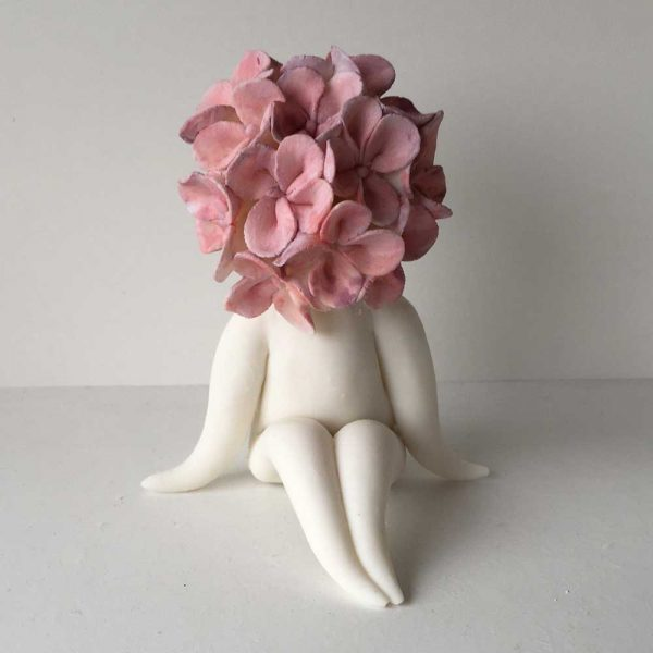 ceramic flower sculpture