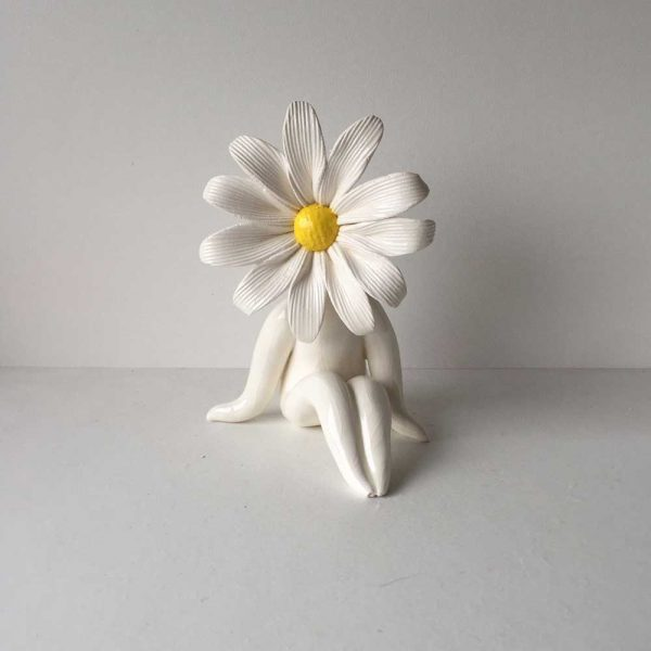 Little Miss Daisy Ceramic Sculpture