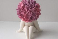 Miss hydrangea flower sculpture