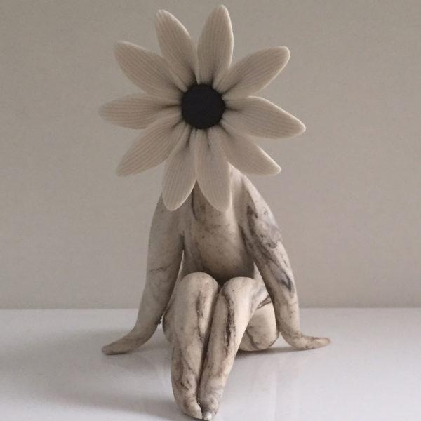 lady daisy flower sculpture