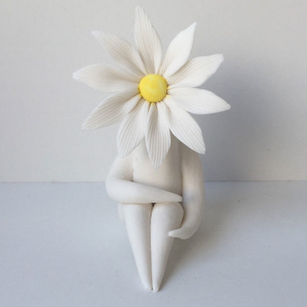Little Miss Daisy Flower Sculpture