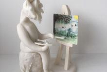 rose lady artist ceramic sculpture