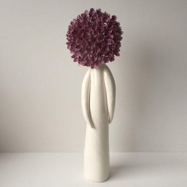 standing hydrangea flower lady