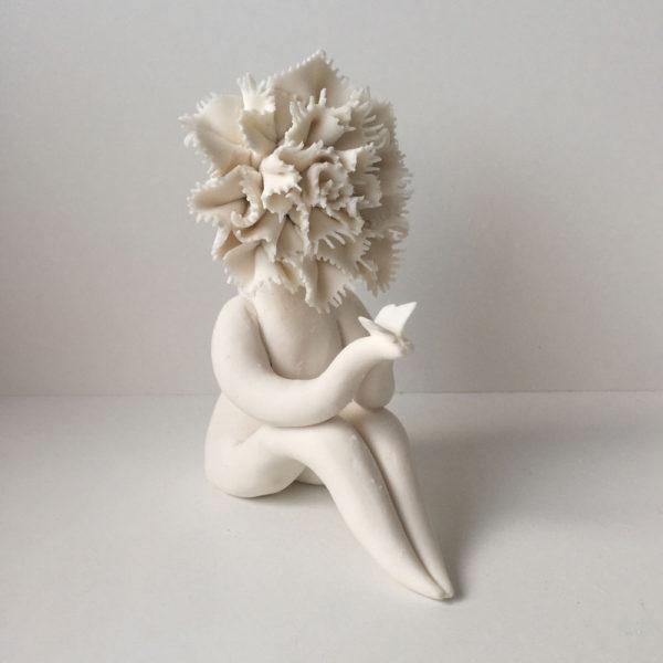 Lady Carnation Flower Sculpture