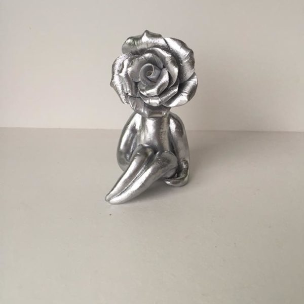 Silver rose flower lady