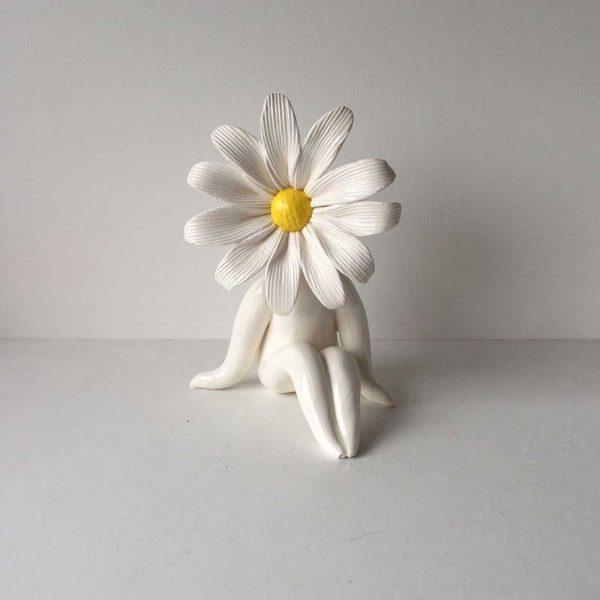 Little Miss Daisy Ceramic Sculpture